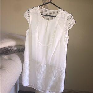 JCREW White Dress. Cap sleeve dress. Size: S
